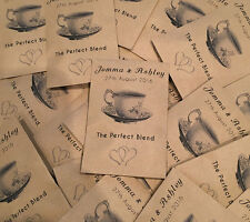 Buy Personalised Tea Bags in Wedding Favours | eBay