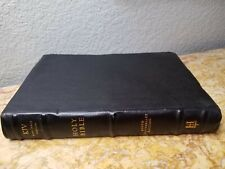 New listing 400th Anniversary Kjv Holy Bible Genuine Cowhide Leather Red Letter Nice L@K🌟