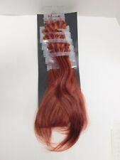 Balmain 100% Human Hair~5ea. Double Hair Strip & 10 Fill-In DEMO EXTENSIONS~Red