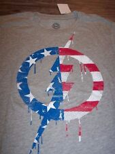 VINTAGE STYLE Marvel Comics CAPTAIN AMERICA SHIELD T-Shirt MEDIUM NEW Avengers