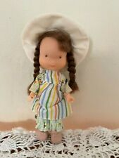 "Vintage 1975 Knickerbocker Holly Hobbie Amy Vinyl Doll 6"" Pink Shoes"