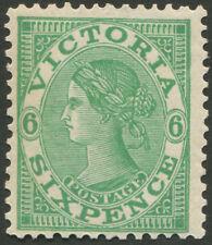 Victoria: 1901-10 (SG.392 variety; BW.V94j) 6d emerald, wmk V