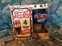 Pepsi Cola 4 Pack 18 Ounce Cooler Glasses Set of 4 Throwback Look 2004