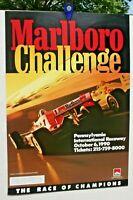 MARLBORO CHALLENGE INDY CAR POSTER OCT. 6 1990 26 X 20 NAZARETH PA PIR COLOR