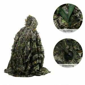 Camouflage Suits Ghillie Suit Leaves Poncho Stealth Cloak Woods Hunting Hunter