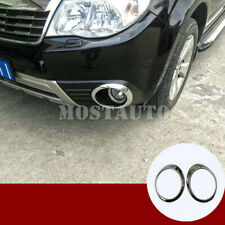 For Subaru Forester ABS Chrome Front Fog Light Trim Cover 2pcs 2009-2012