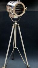 NAUTICAL STUDIO CHROME TRIPOD FLOOR LAMP VINTAGE INDUSTRIAL SPOT LIGHT LAMP