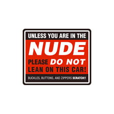 Nude Do Not Lean Jeep Land Rover Cruisher Patrol Decal Sticker