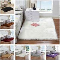 Shaggy Fluffy Rugs Anti-Skid Floor Mat Area Rugs Office Room Carpet Home Bedroom