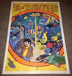 THE BEATLES  Yellow Submarine Limited Edition Poster 1999 by Stephen Templer