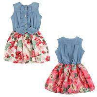 Summer Fancy Toddler Kids Baby Girl Flower Princess Party Dress Size 2 3 4 5 6 7