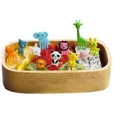 10PCS Mini Kids' Animal Food Fruit Picks Forks Lunch Box Accessory Decor Tool AK