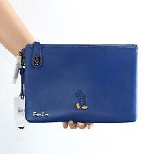 NWT Coach x Disney Mickey Mouse Turnlock Wristlet Clutch Folio 65792 Blue  RARE