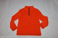 Boys L/S Sweatshirt ORANGE FLEECE PULLOVER High Collar ZIP NECK Size M 8