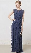 NWOT Anthropologie Ruffle Stream Maxi Dress, Size 12