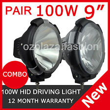 2PCS 100W 9INCH HID XENON DRIVING LIGHTS SPOTLIGHTS 12V OFFROAD SPOT EURO COMBO