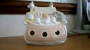 CHILD'S MONEY BOX 'PIGGY-BANK' - CUTE NOAH'S ARK birth birthday Christening gift