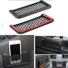 Black Auto Car Storage Mesh Resilient String Bag Holder Pocket Organizer large