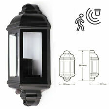 E27 LED Half Traditional Vintage Outdoor IP44 Lantern PIR Motion Sensor Light