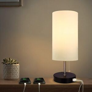 USB Table Lamp with 2 Charging Ports for Recharge Devices  Albrillo MT18286