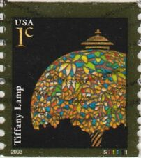 Scott 3757 1¢ Tiffany Lamp on Cover Plate Number S11111 PNC