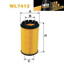1x Wix Oil Filter WL7412 - Eqv to Fram CH9685