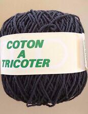 10 pelotes de coton  mat  couleur : noire - FABRIQUE EN FRANCE
