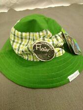 Green Plaid Reversible Sun Beach Hat 12-18 Months Toddler Grand Sierra UV UPF50