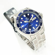 ORIENT RAY II DIVERS Automatic BLUE Dial FAA02005D9 NEW Stainless Steel
