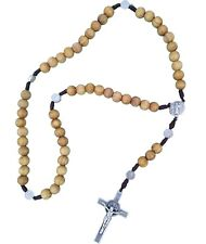 St. Benedict Brown rosary made of OLIVE WOOD St Benedict cross medal