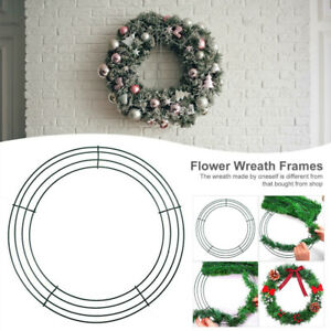 8/10/12/14inch Wire Wreath Frame Wreath Making Ring for Festival Home Decoration