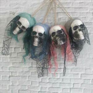 Hanging Skull Head Pirates Corpse Haunted Party Home Props Decor Halloween 2Pcs