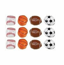 Party Supplies Birthday Boys Sports Soccer Basketball Favor Loot Soft Balls 12
