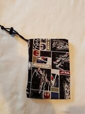 "Dice Bag Cloth Drawstring Star Wars Rebel Ships 4.5"" x 6"""