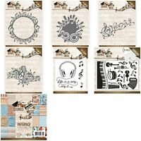 Amy Designs Cutting Dies - Sounds Of Music - Circle, Label, Swirl Border -New In