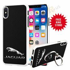Jaguar Car Phone Case Cover & Finger Ring Stand For Top Mobiles 041-13