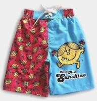 Girls LITTLE MISS SUNSHINE Boardies Size 3, 5 & 6 ~ NEW ~ Board Shorts ~ Mr Men