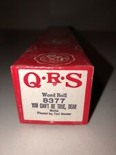 QRS Player Piano Word Roll 8377 You Can't Be True, Dear Waltz Ted Baxter