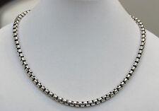 "DAVID YURMAN NEW Mens XL Sterling Silver 7mm Box Chain Necklace 22"""