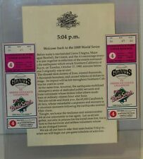 New ListingCandlestick Park Sf Giants Vs A's 1989 World Series Baseball game 2 Ticket stubs