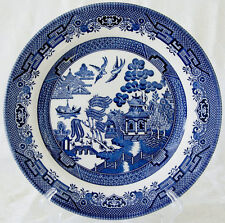 Churchill BLUE WILLOW (England) Dinner Plate Plates VERY GOOD+ CONDITION