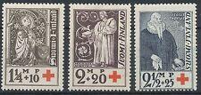 Finland 1933 MNH Full Set of 3 Red Cross - Finnish Church Bishops - Scott B12-14
