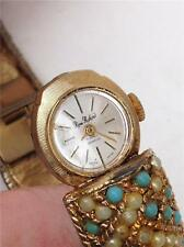 Vintage Rene Rouchard 17 Jewels Swiss Ladies Hinged Bracelet Watch - for Repair