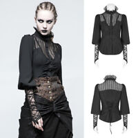 Punk Rave Y-794 Womens Black Elegant Gothic Steampunk Lace Shirt Blouse Top