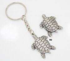 Adorable Sea Turtle Pewter Key - Chain and Magnet Set
