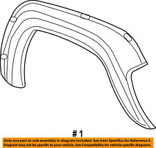 Jeep CHRYSLER OEM-Front Fender Flare Wheel Well Arch Molding Right 5GG96HS5AH