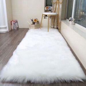 Balcony Large Faux Fur Sheepskin Rug Fluffy Mat Pad Room Sofa Hairy Home Carpets