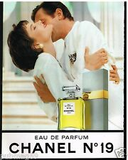 Publicité Advertising 1989 Eau de Parfum n°19 Chanel