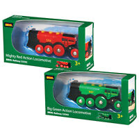 BRIO Battery Powered Locomotive Trains Twin Pack 33592 33593 for Wooden Railway