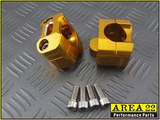 Area 22 Kawasaki Z125 Z 125 2016 - 2017 Fat Handle Bar Mounts 28mm Gold